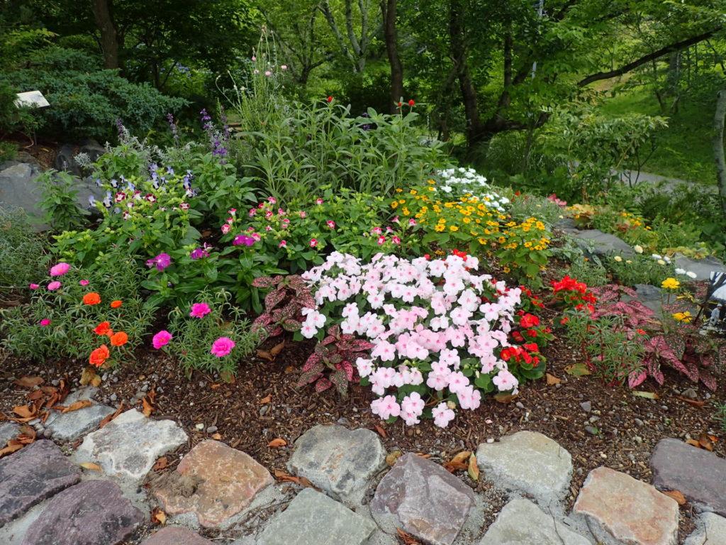 自然風花壇