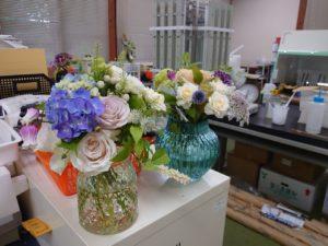 花き生産ゼミ室に飾られた花