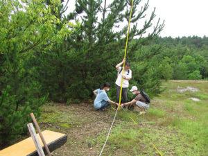 植栽予定地を測量