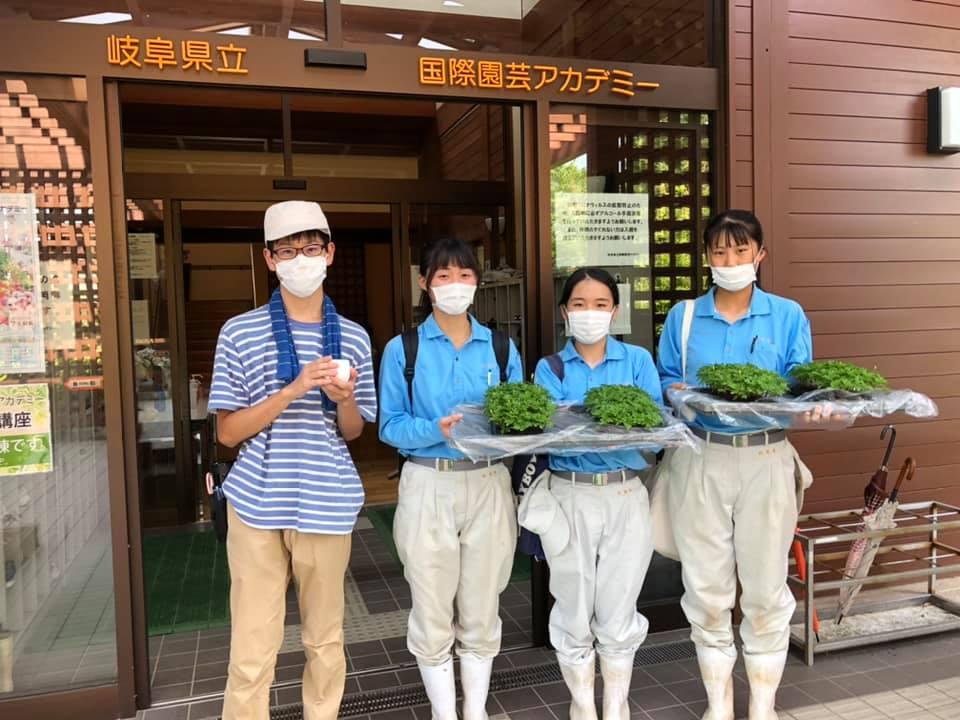 加茂農林高校の生徒さんとアカデミー花き生産コース学生