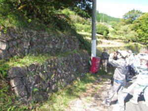 さまざまな石垣の積み方の見本コーナー