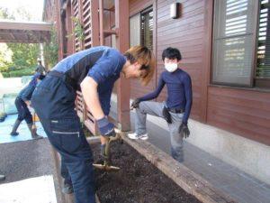 肥料をやり耕す