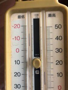 最低気温は-4℃