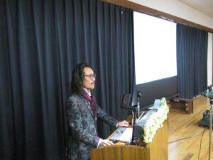 薔薇園植物場代表の金岡信康さんによる特別講演