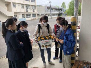 今回アンケート調査を担当した本校学生も、加茂農林高校出身です!